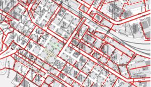 Vanhanmallinen pyöräilykartta