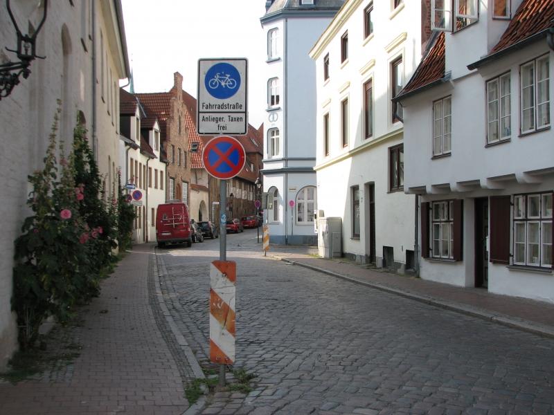 Pyöräkatu Lübeckissä