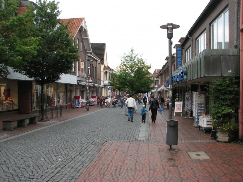 Kävelykatua Zevenin kaupungissa